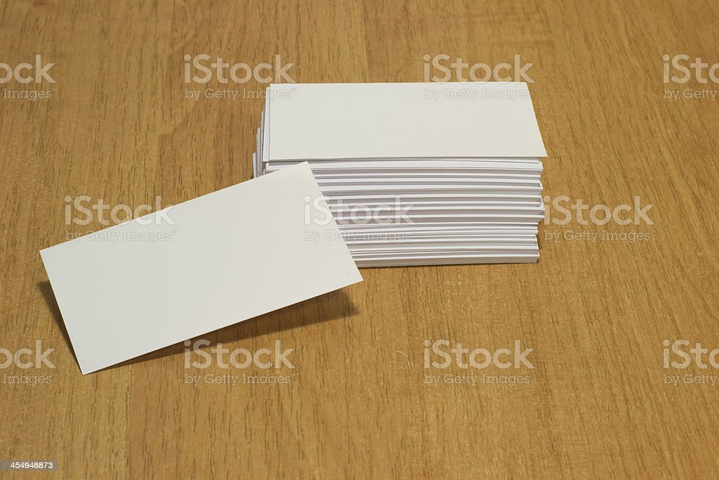 empty blank business card royalty-free stock photo