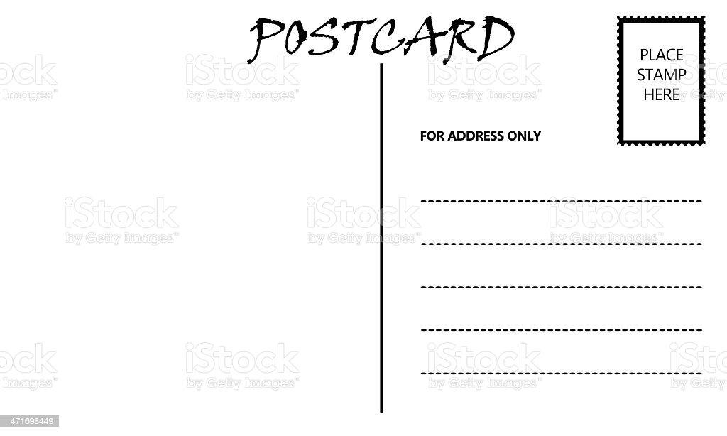 Leer Leere Postkarte Vorlage Stock-Fotografie und mehr Bilder von ...