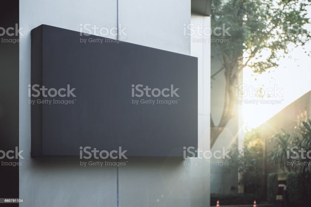 Empty blank poster stock photo
