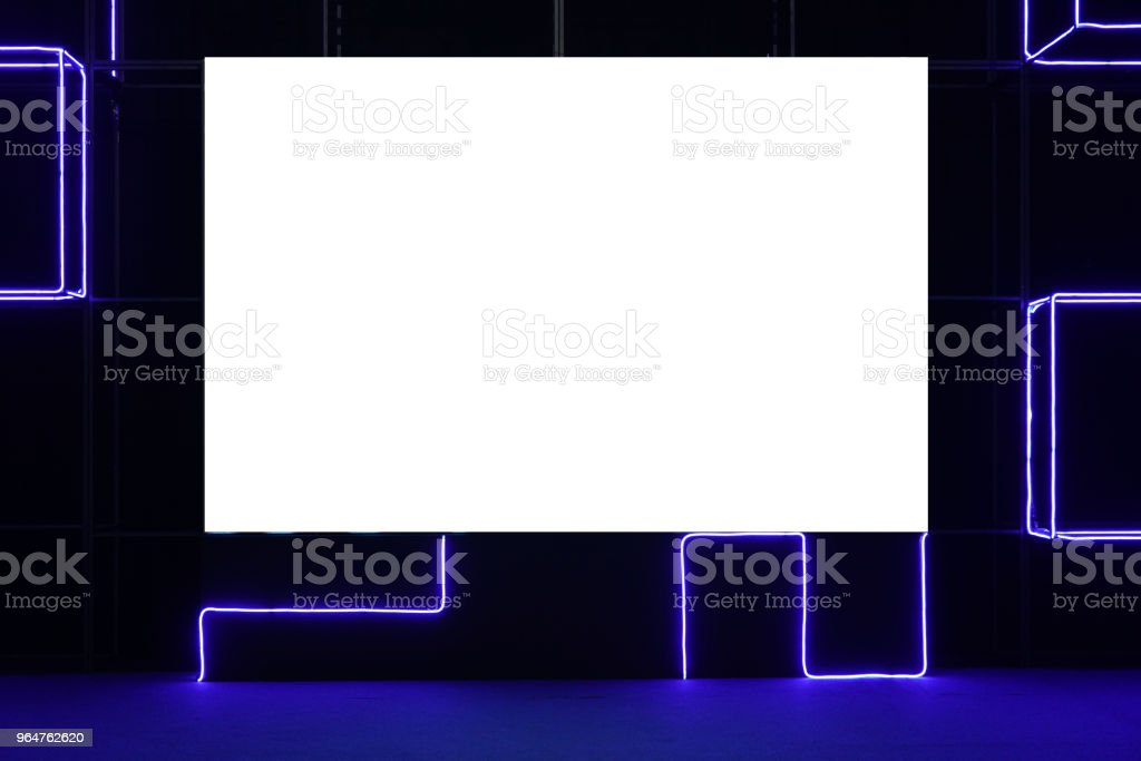 Empty blank space screen on the event stage royalty-free stock photo