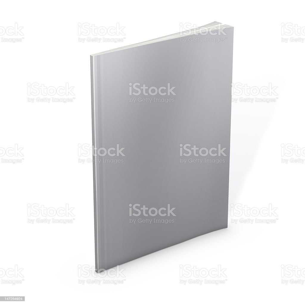 A empty blank white magazine cover royalty-free stock photo