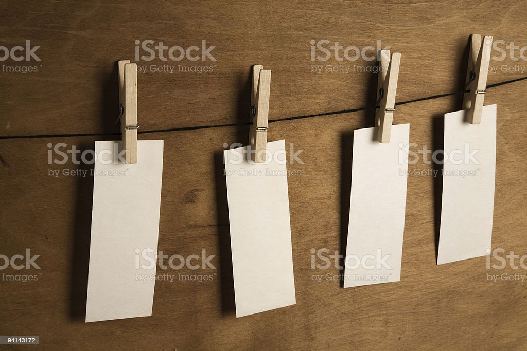 empty blanks stock photo