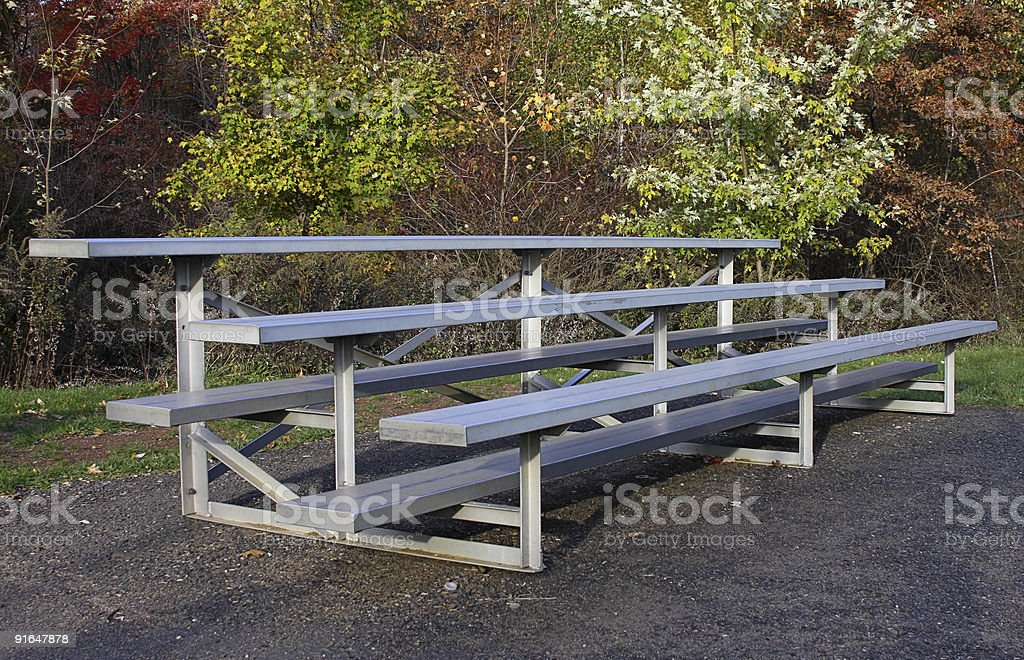Empty Bleacher Seats stock photo