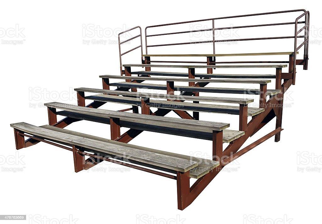 Empty Bleachers stock photo