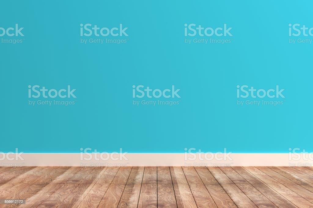 Leere blaue Zimmer – Foto