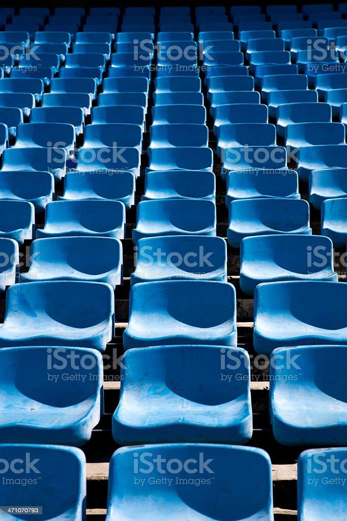 Empty Blue Seats royalty-free stock photo