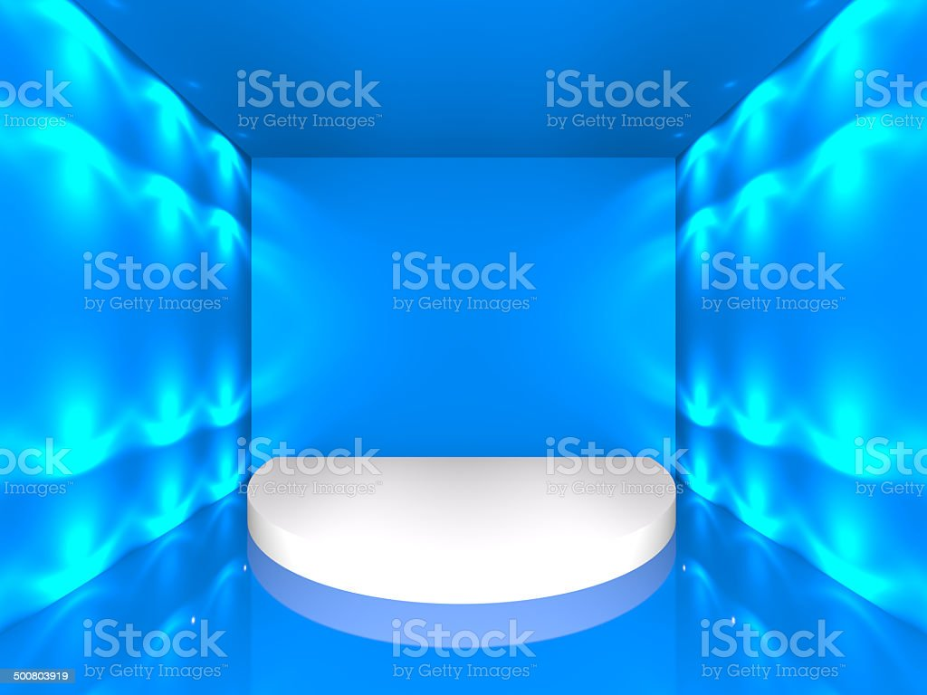 Empty Blue Stage royalty-free stock photo