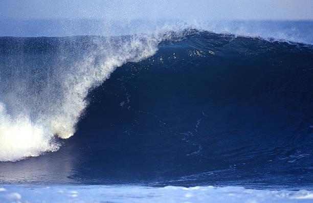 empty blue wave stock photo