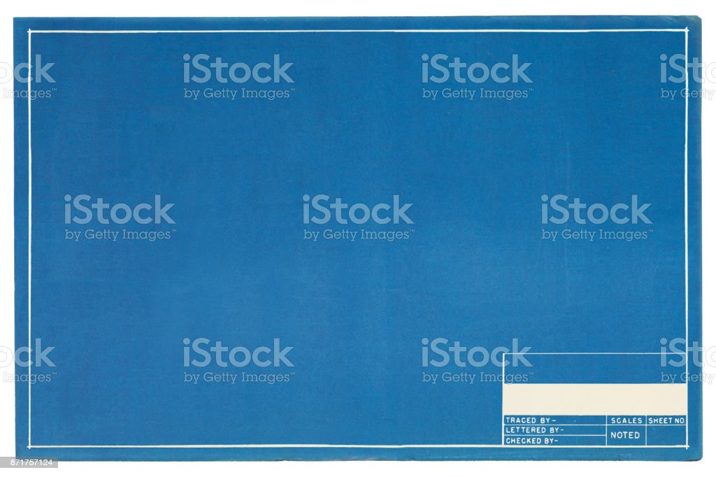 Empty Blueprint stock photo