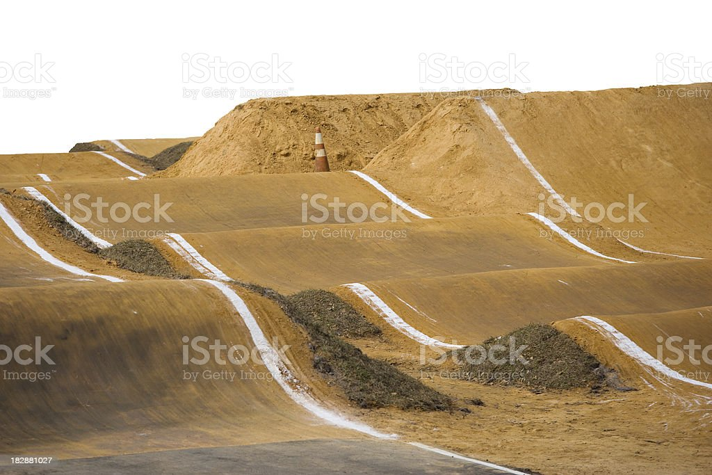 Empty BMX dirt track with Path included stock photo