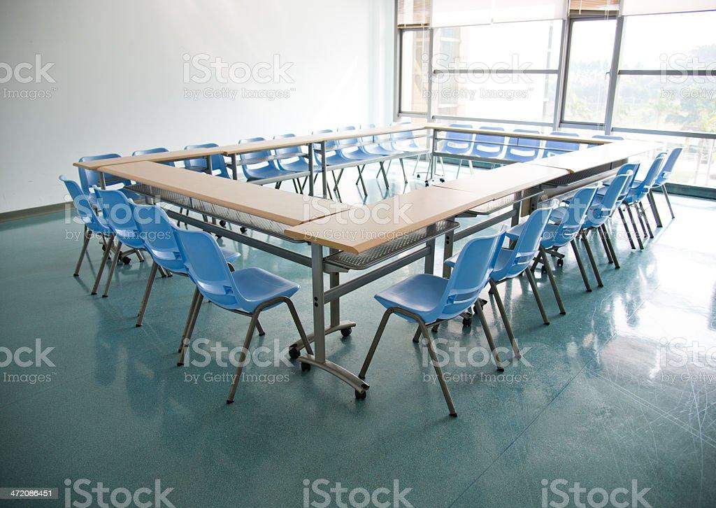 Empty boardroom royalty-free stock photo