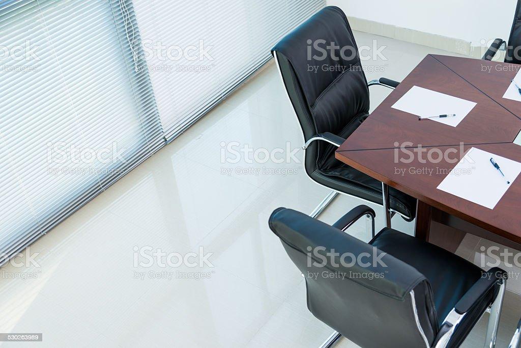 Empty boardroom stock photo