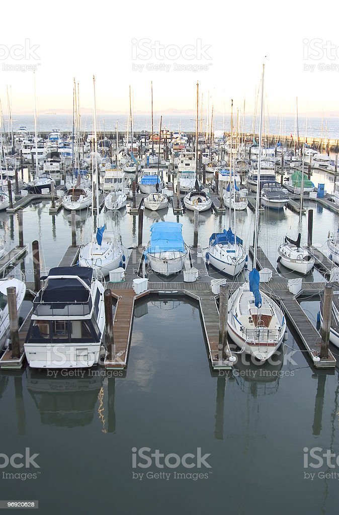 Empty Boat Slip royalty-free stock photo