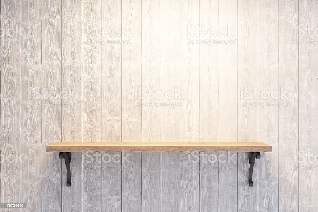 empty book shelf stock photo