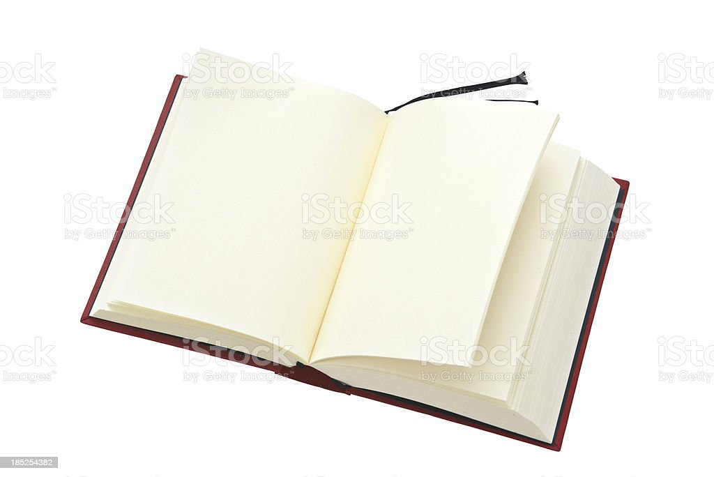empty book with nothing on sites stock photo