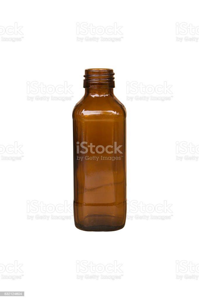Empty bottle isolated on white stock photo