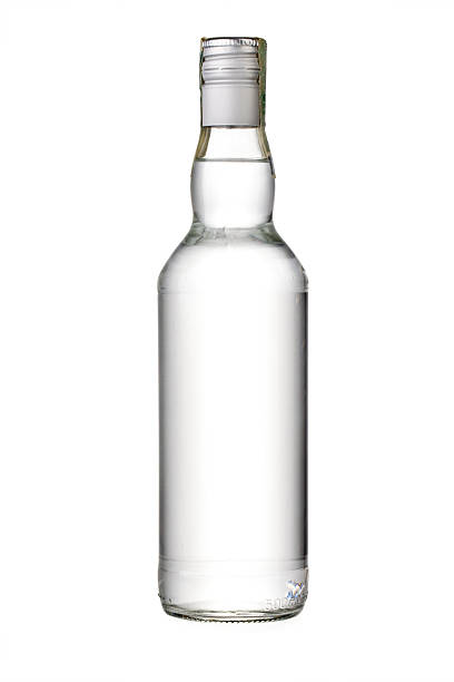 empty bottle empty bottle of vodka or other alcohol vodka stock pictures, royalty-free photos & images
