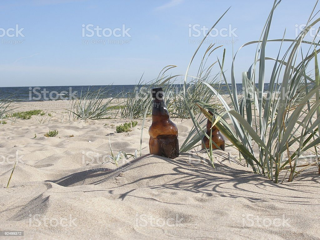 Empty bottles royalty-free stock photo