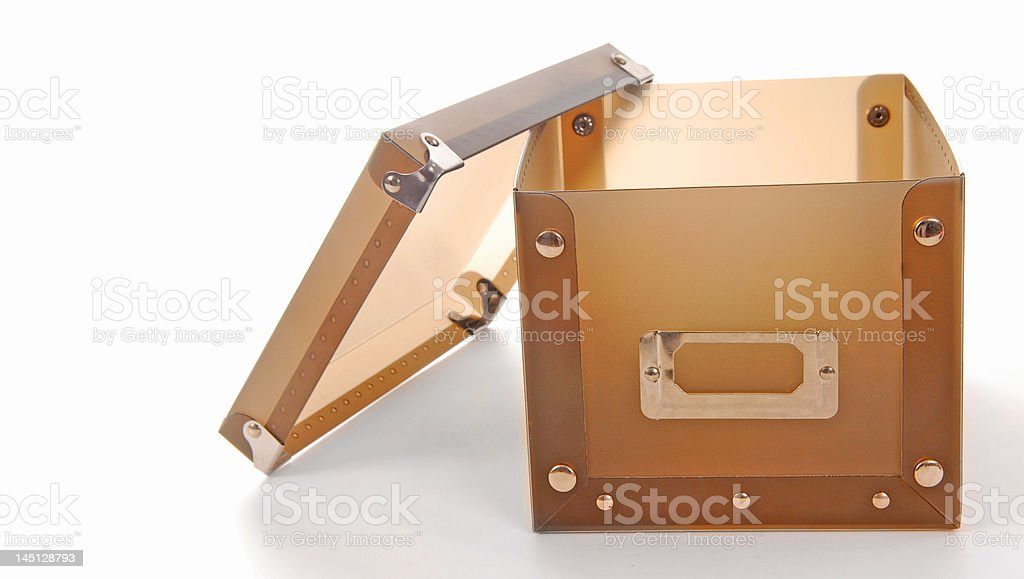 Empty Box and Lid royalty-free stock photo