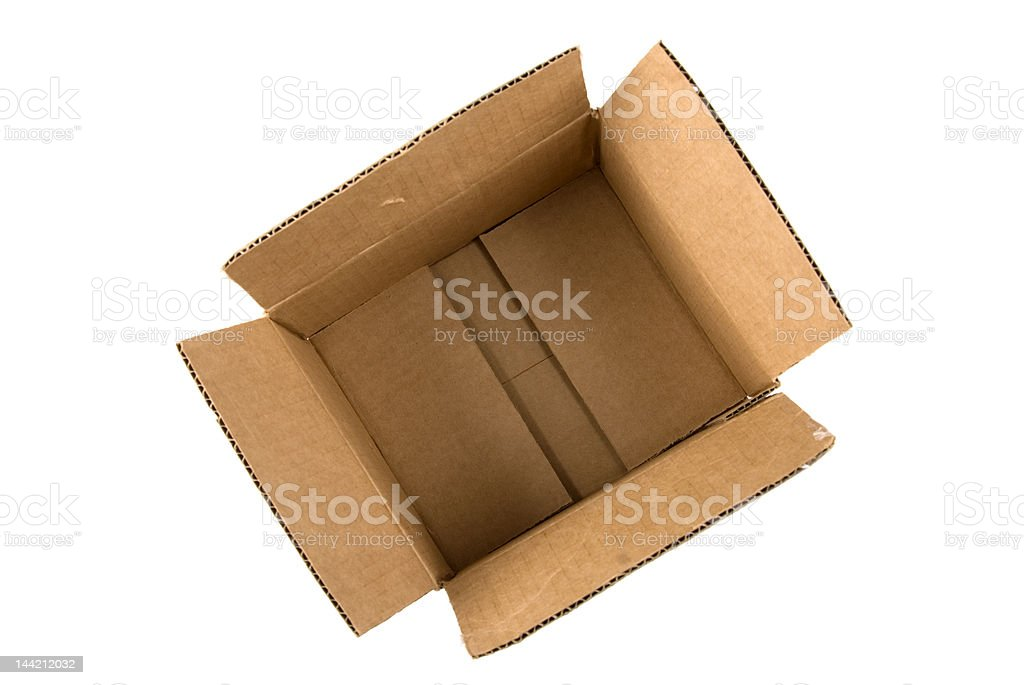 Empty Box from the top royalty-free stock photo