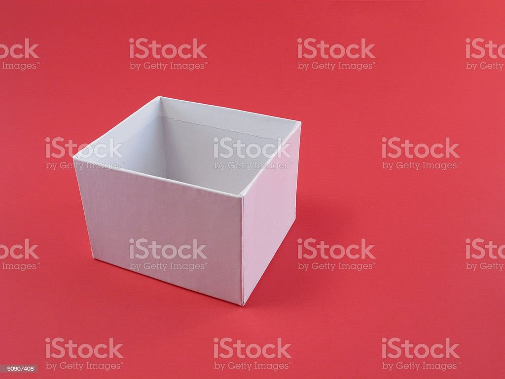 Empty Box on Red royalty-free stock photo