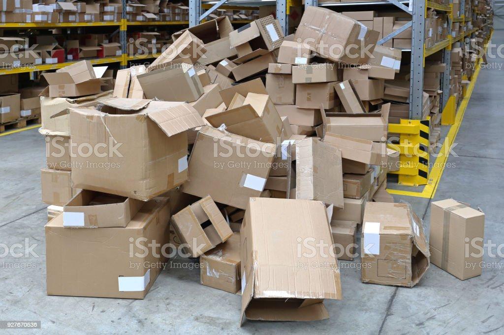 Empty Boxes stock photo