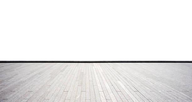 leere Ziegelboden auf weiß – Foto