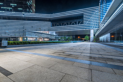 China - East Asia, City, Building Exterior, Night, Hotel