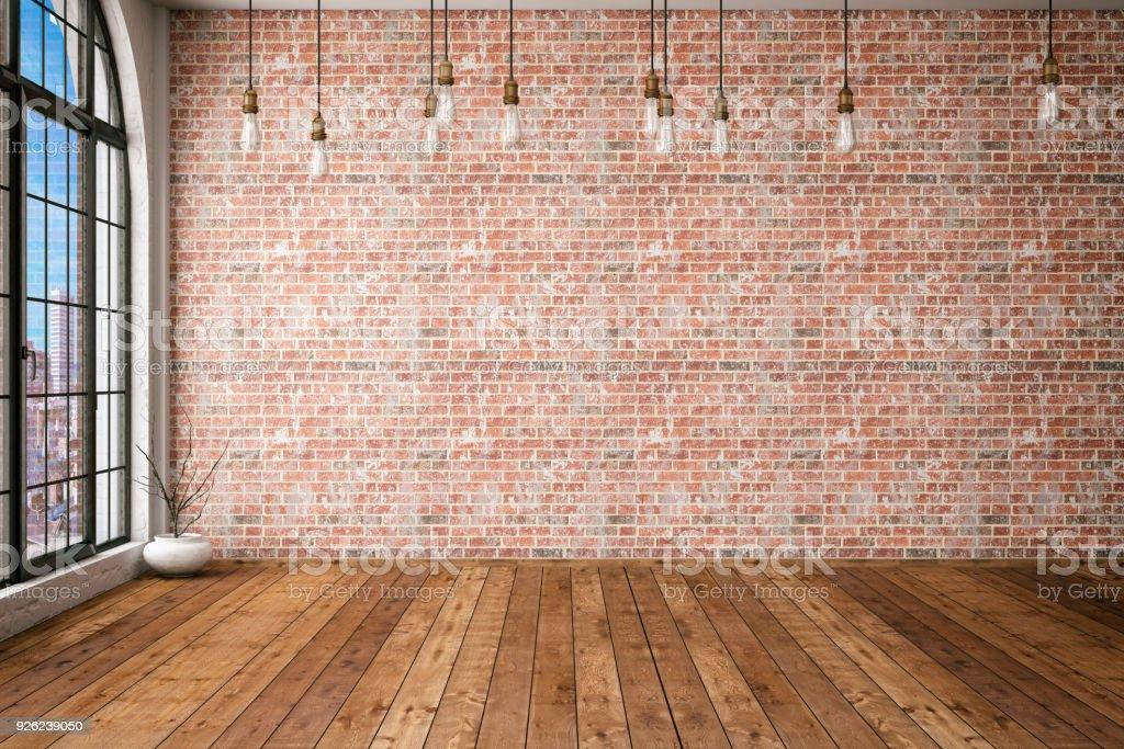 Empty Brick Wall stock photo