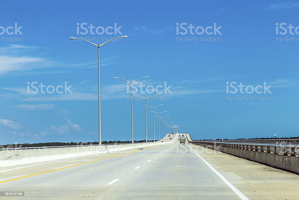 empty bridge at Bay St. Louis in Mississippi royalty-free stock photo