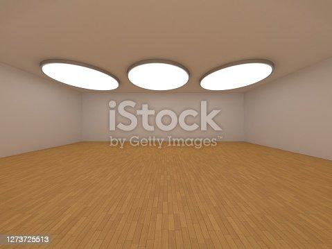Empty bright room