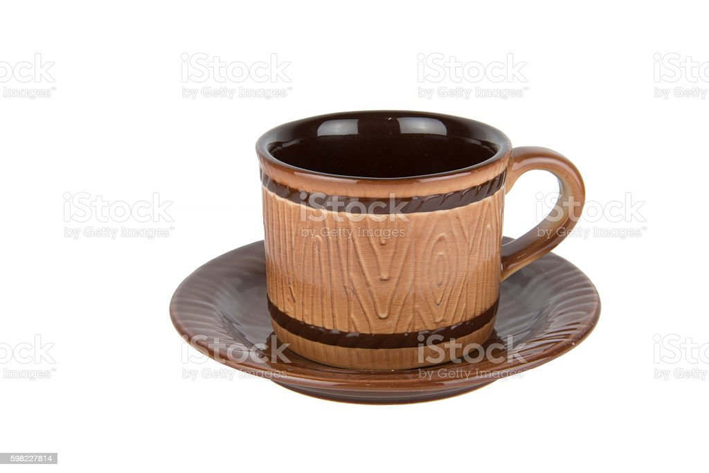 Empty brown cup on isolate background foto royalty-free