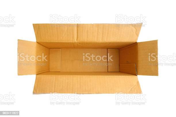 Puste Brązowe Pudełko Papieru Na Białym Tle - zdjęcia stockowe i więcej obrazów Bez ludzi