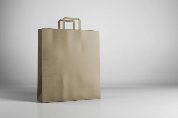 Leere braune Shopping Tasche – Foto