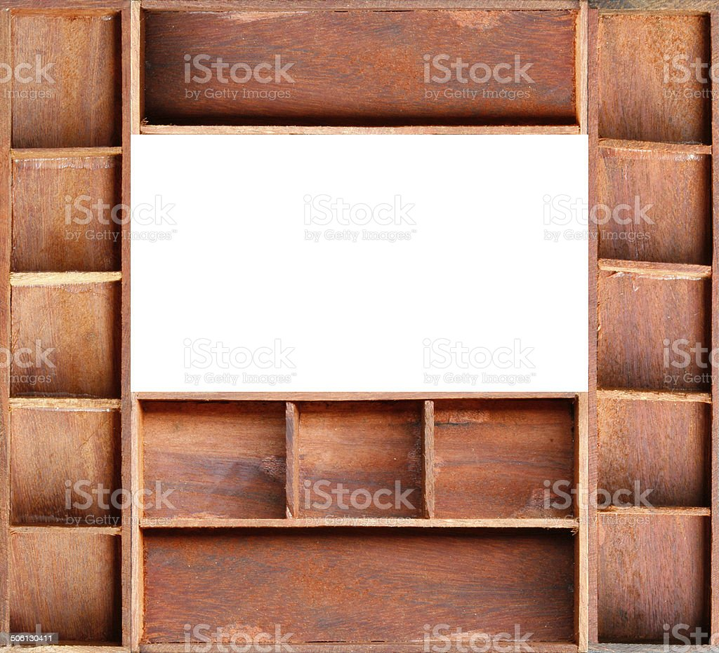 Empty Brown Wood Cabinet Shelf Stock Photo Download Image Now