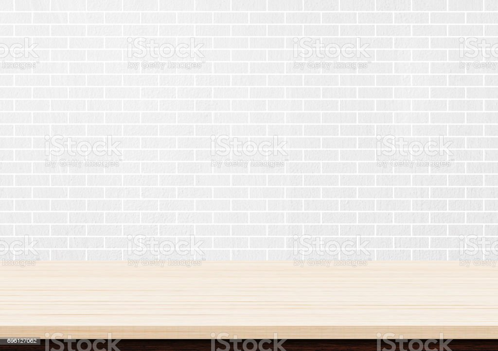 table top background dark wood empty brown wood table top on white brick wall background royaltyfree stock photo brown wood table top on white brick wall background stock