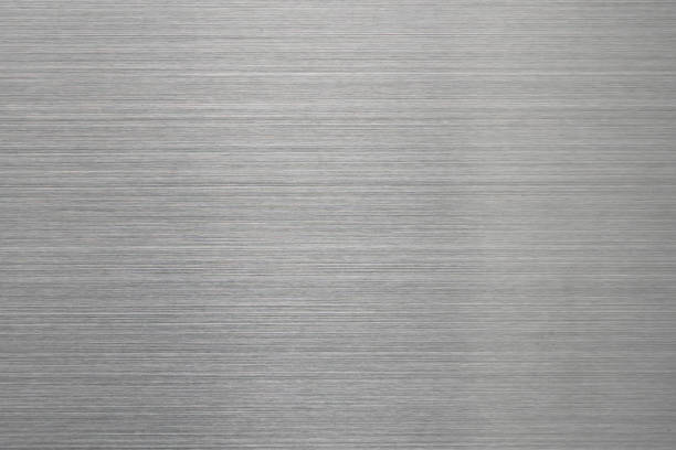 empty brushed metal surface. abstract background for design and backdrop - alluminio foto e immagini stock