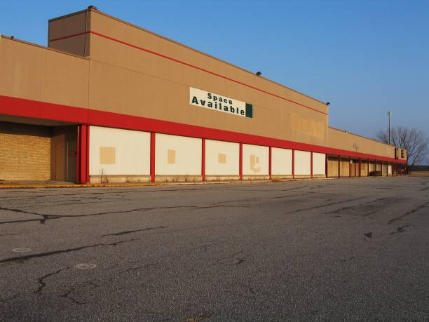 "Empty building with a space available sign in front ""Vacant commercial property available for lease. A victim of tough economic times or an opportunity to expand and growIf you find that this image suits your needs, I would appreciate knowing how it was used."" derelict stock pictures, royalty-free photos & images"