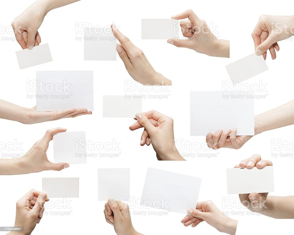 empty business card royalty-free stock photo