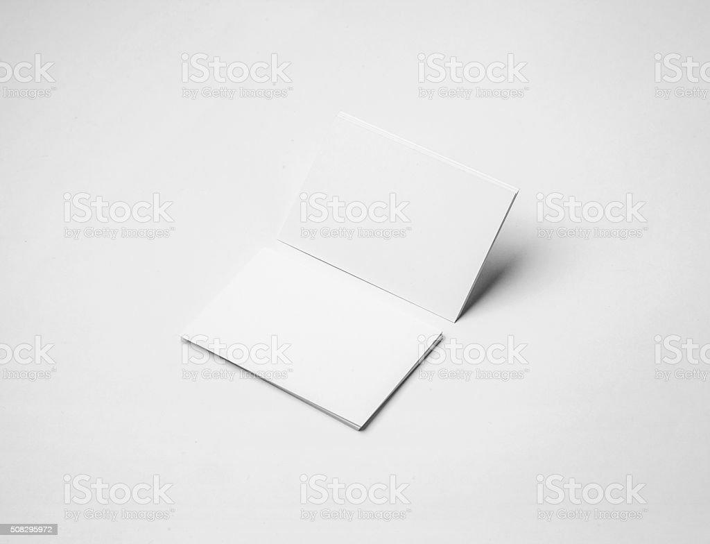Cartes De Visite Vide Sur Un Fond Blanc Conception Didentite Dentreprise