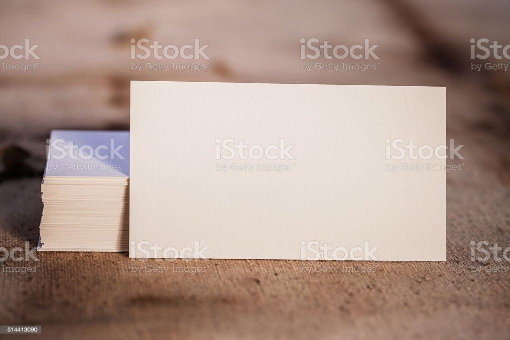 Leere Visitenkarten Vorlage Stockfoto Und Mehr Bilder Von