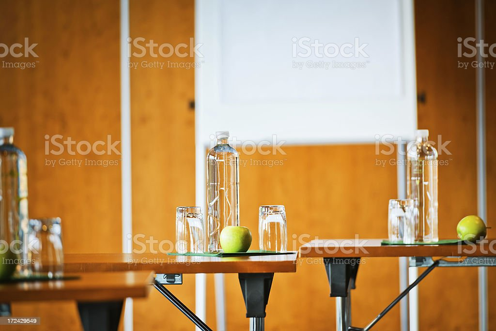 Empty business conference room with refreshments royalty-free stock photo