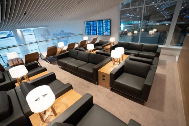 Leere Business-Lounge am Flughafen – Foto