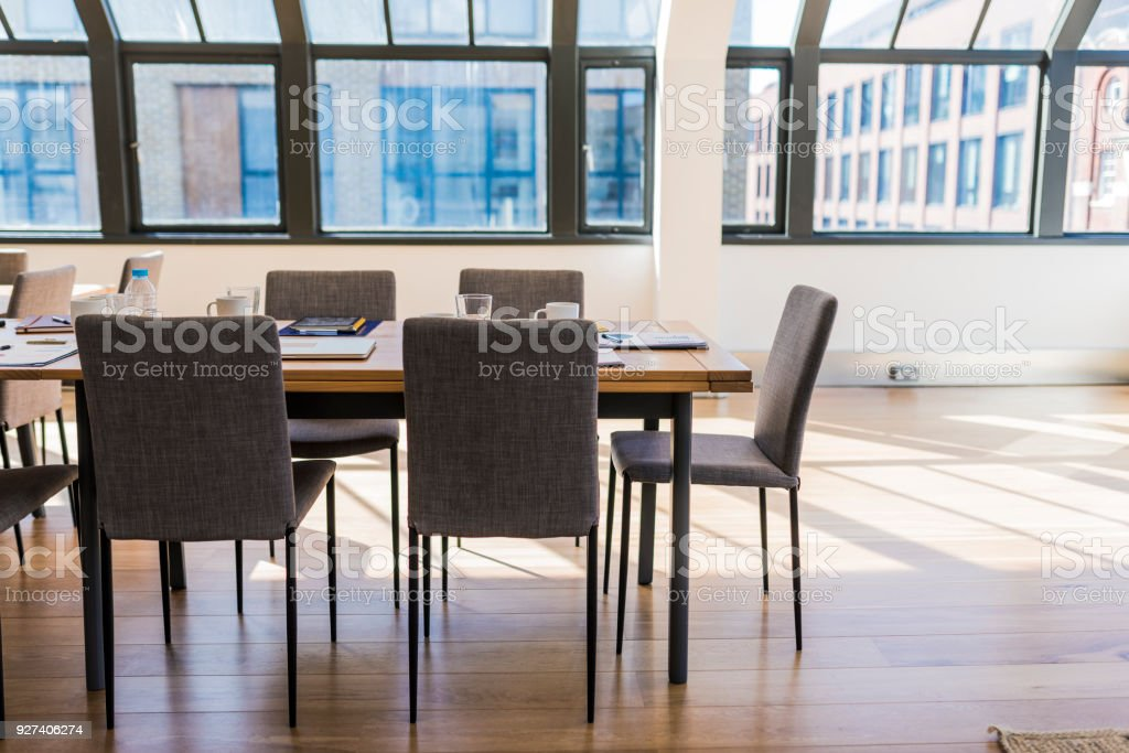 Empty business office in London stock photo