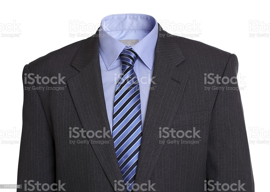 Empty business suit royalty-free stock photo