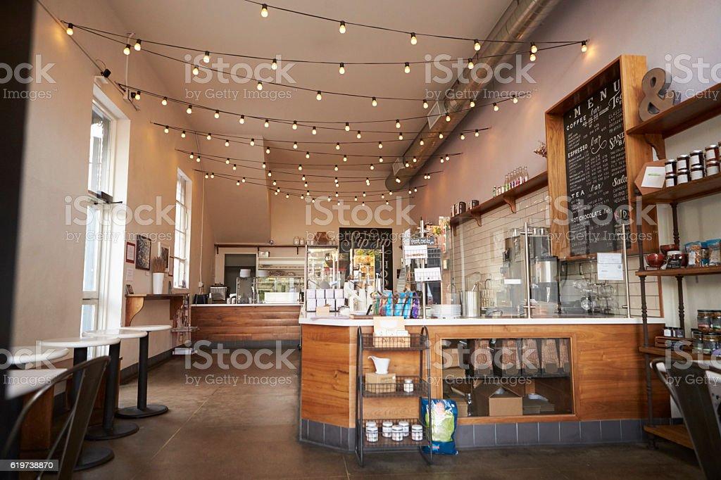 Empty cafe or bar interior daytime stock photo more for Interior design keywords