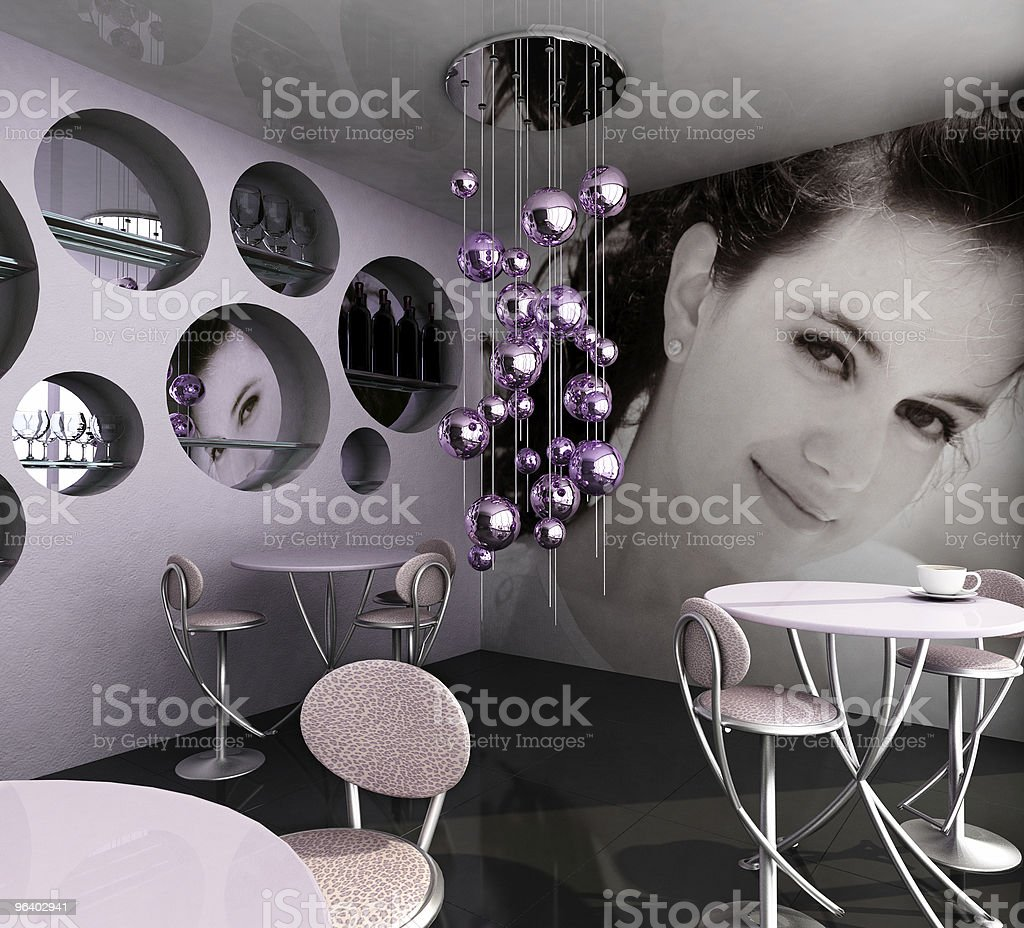 Empty cafe - Royalty-free Airport Departure Area Stock Photo