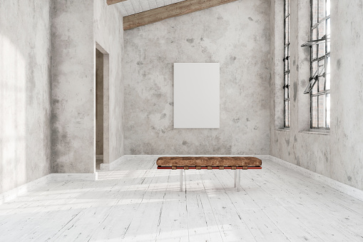 Empty Canvas In The Art Gallery