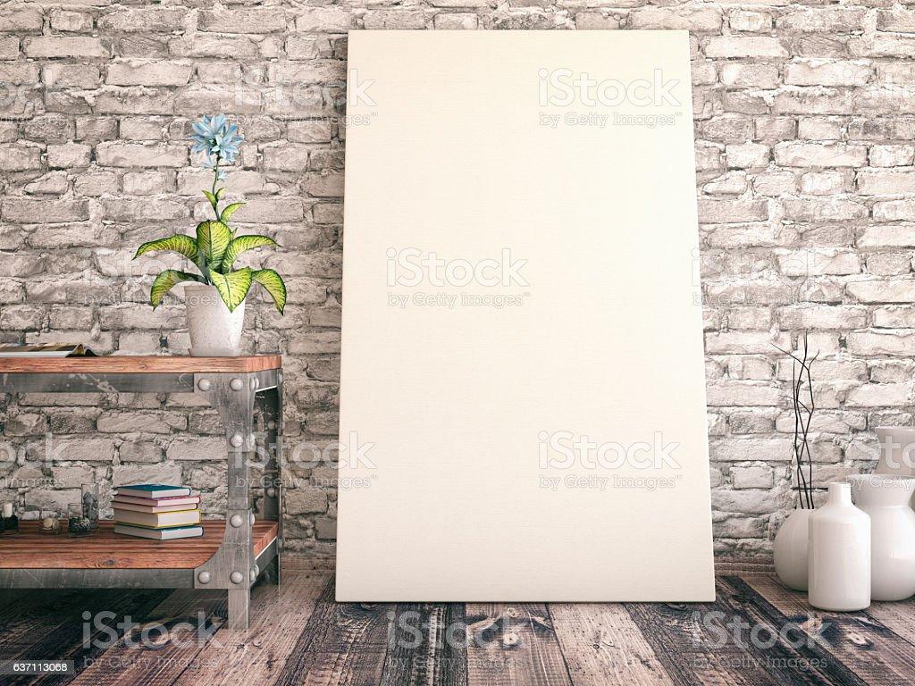 Empty Canvas stock photo