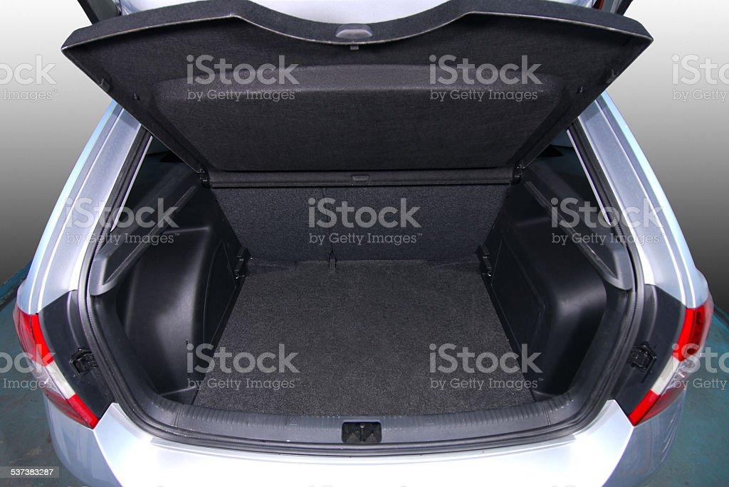 empty car trunk stock photo